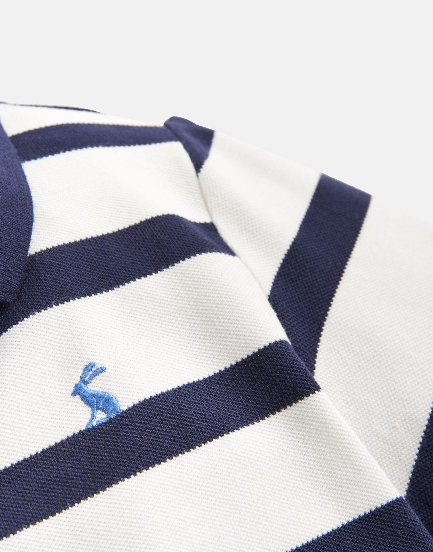 Joules Ragazzi nocciola di Dalmazia Ragazzi Polo in Crema Blu Navy a Righe