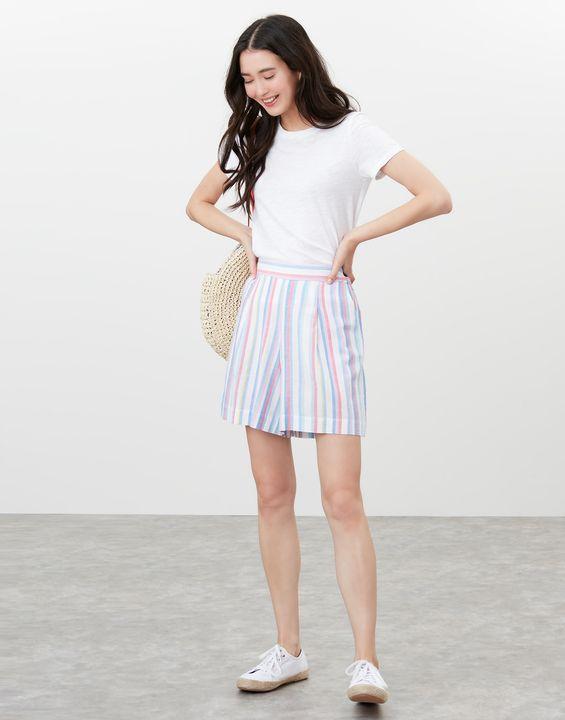Joules Womens Coretta Printed Shorts - Multi Stripe