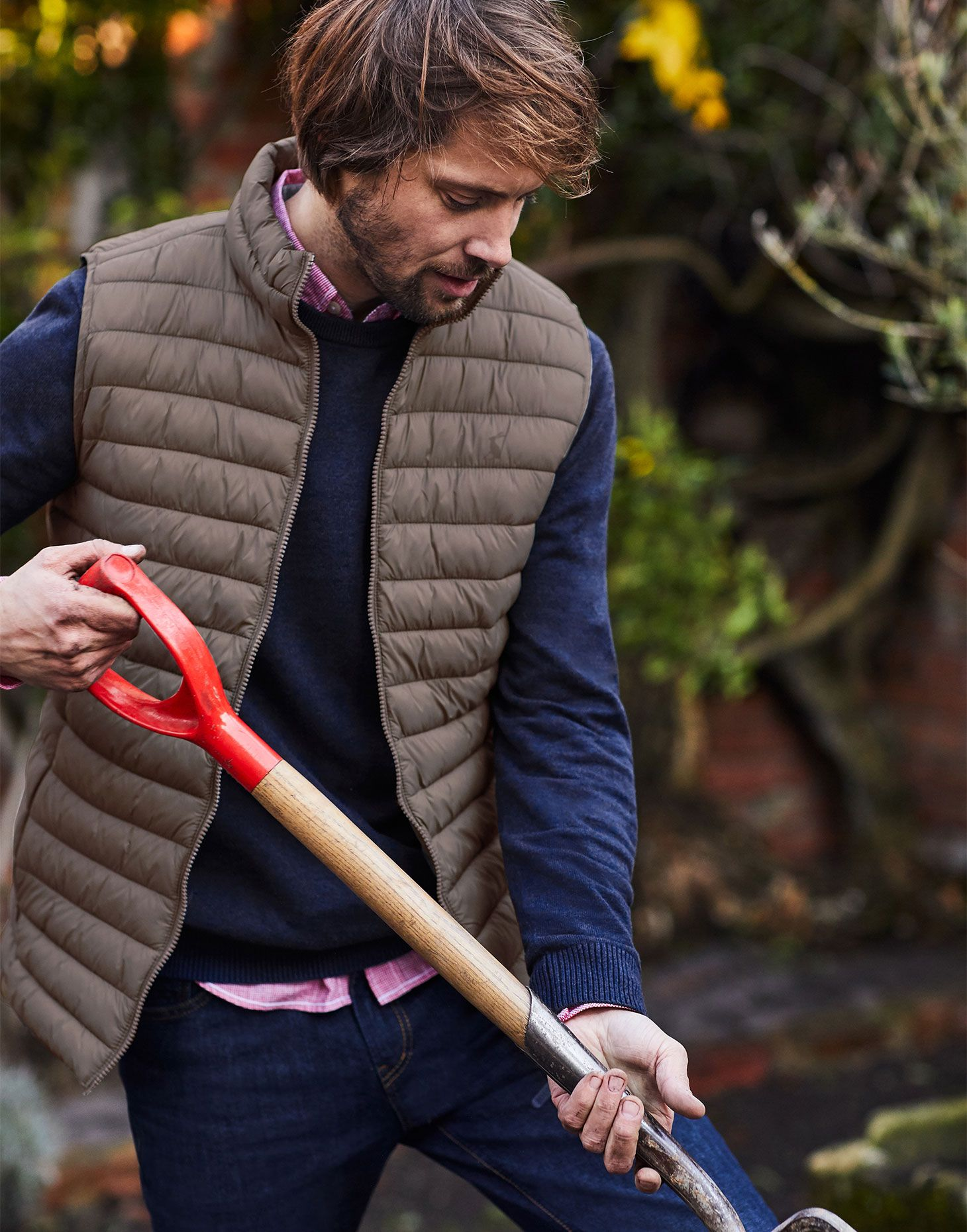 Brown All Sizes Joules Go To Gilet Mens Jacket