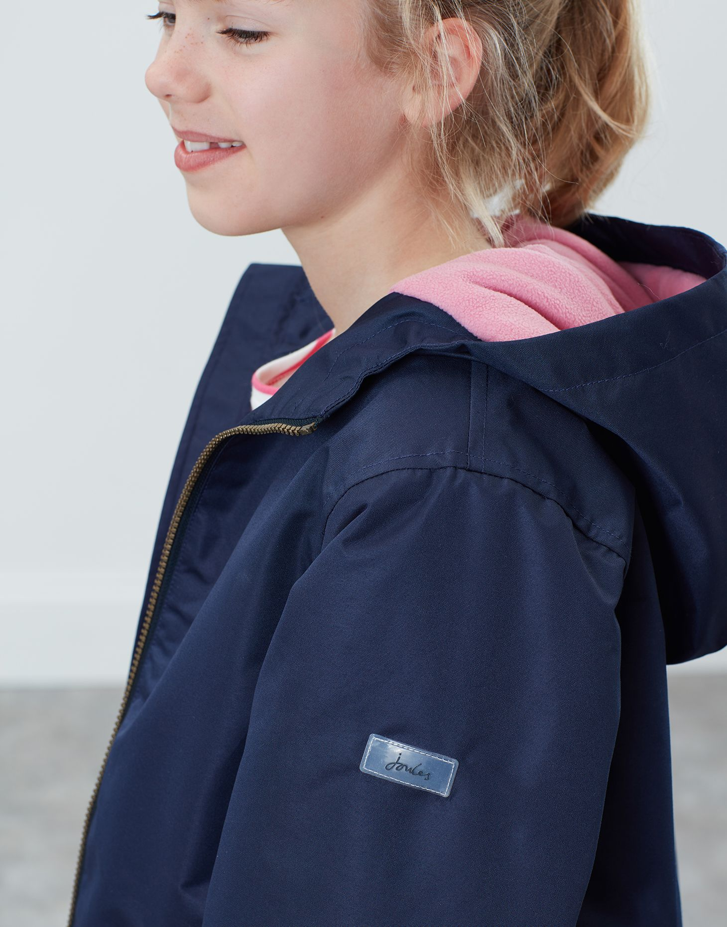 Joules Girls Raindrop Waterproof Coat