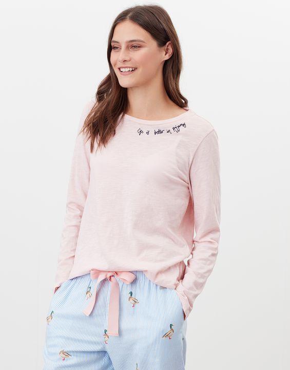Joules Womens Otilie Long Sleeve T-Shirt - Pink Marl