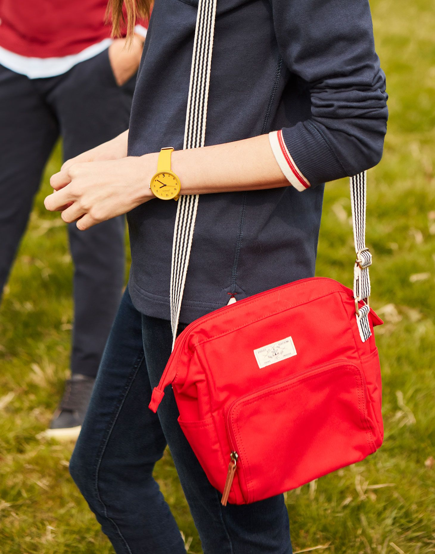 One Size Red Joules Womens Coast Foldover Purse