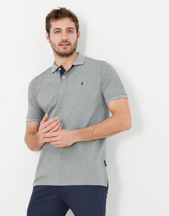 Joules Mens Woody Classic Fit Polo Shirt - Grey Marl