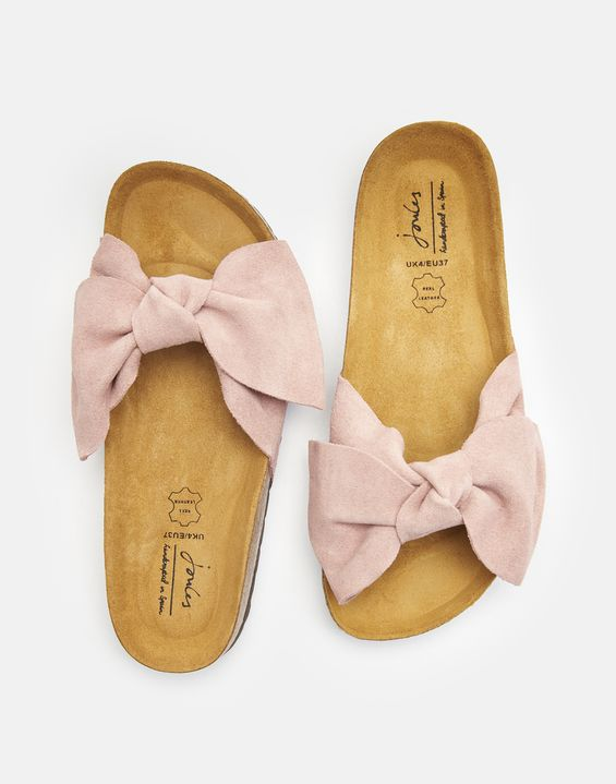 7d5288835e93 Bayside Suede Bow Sliders