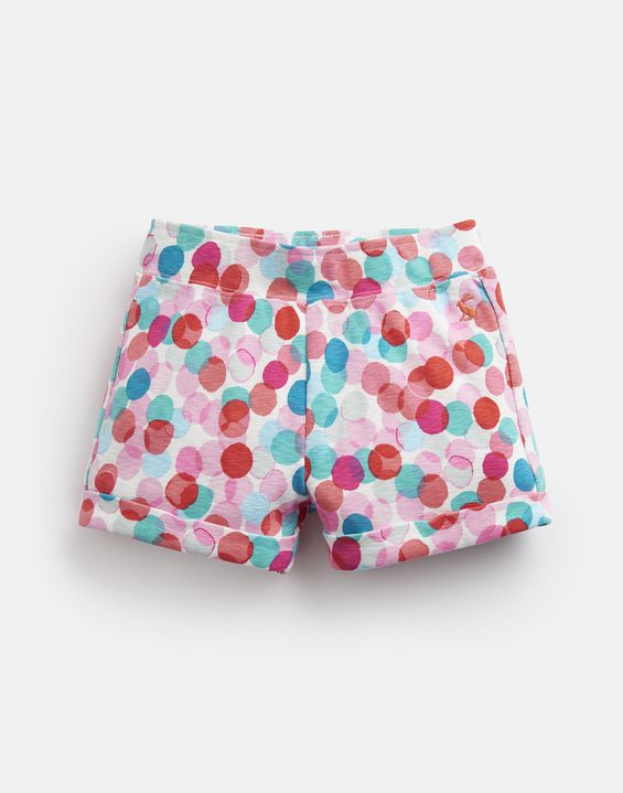 Joules Girls Kittiwake Jersey Shorts WHITE BLUE STRIPE