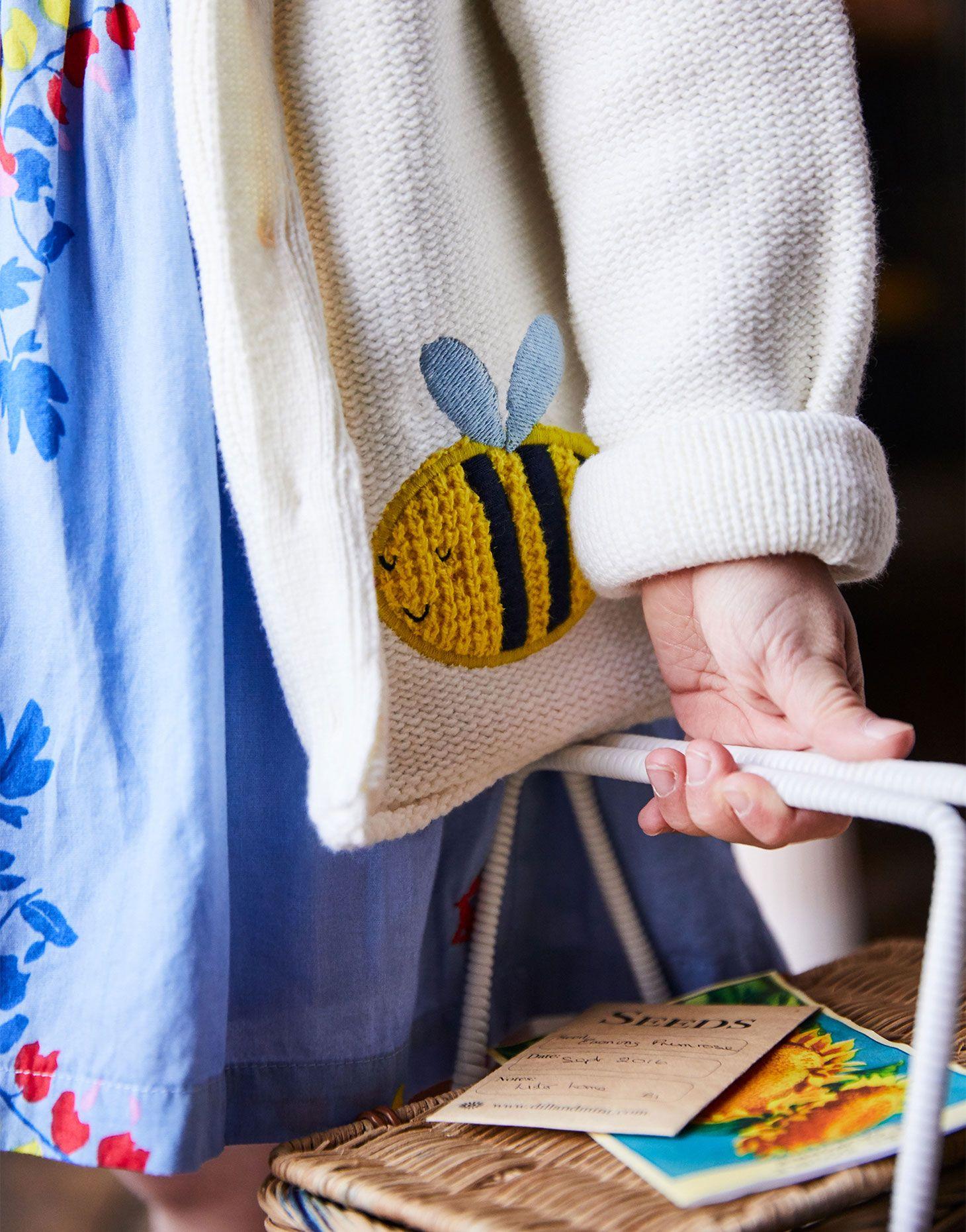 aa1cf0d8915b Dorrie CREAM BEE Knitted Cardigan 1-6yr