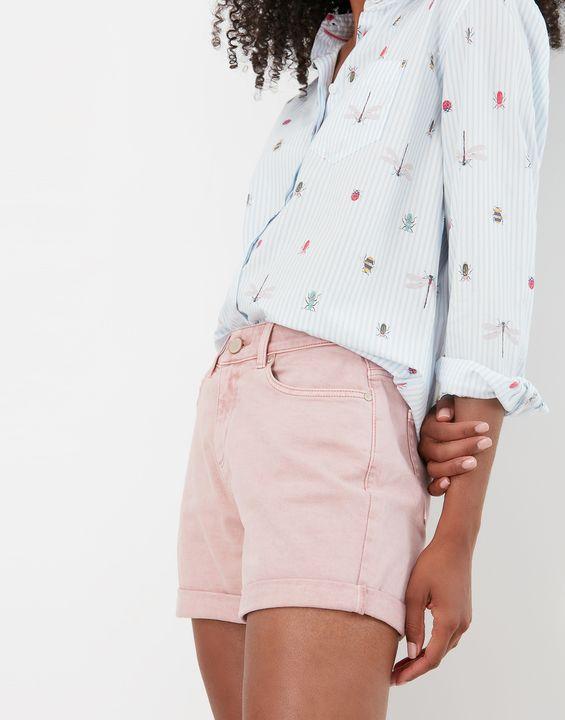 Joules Womens Shirley Denim Shorts - Pink