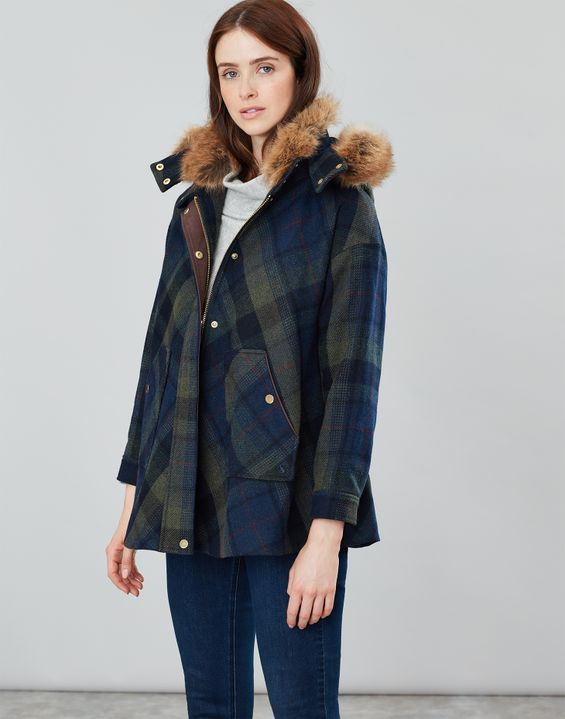 Carolyn Swing Coat by Joules